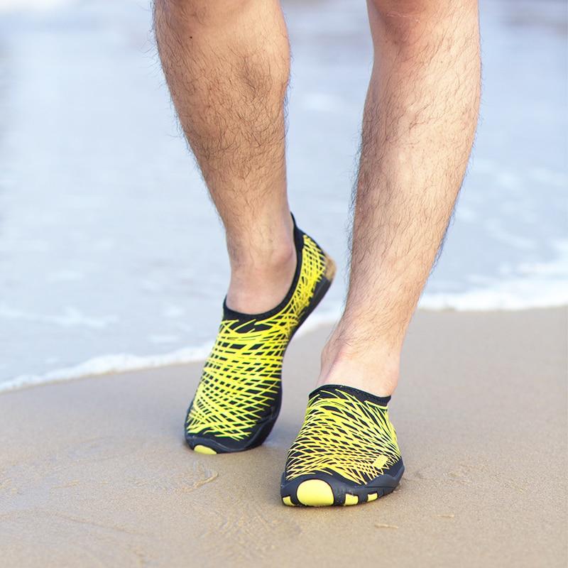 Mujeres Zapatos Planos Con Amante Mocasines de Agua Natación Surf Playa Sandalia