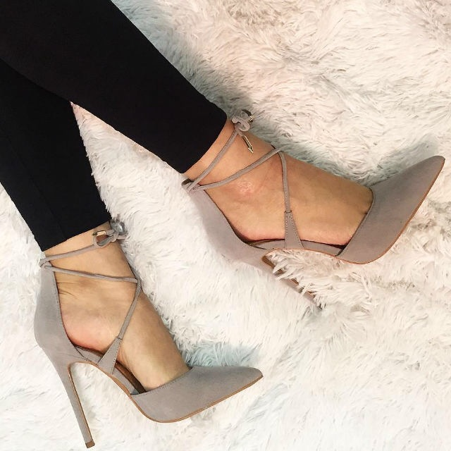 top quality suede leather pointed toe cross strap high heel pumps ankle lace up stiletto heels for party брызговики hyundai elantra 07 11 refires