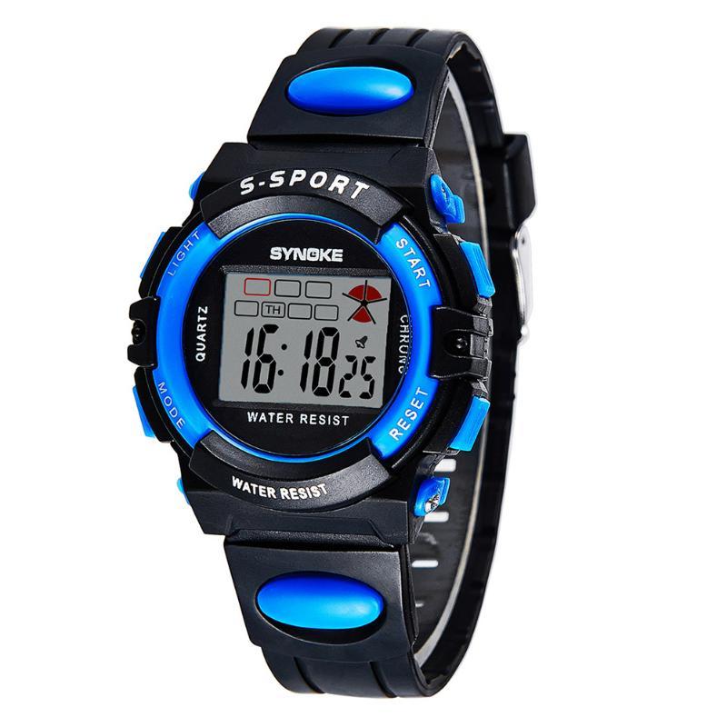 Permalink to Children's Watch New Brand Digital LED Kid Clock Fashion Sport Watch Cute Wrist watch Waterproof Gift Watch Alarm Hand Clock