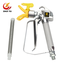 3600PSI High Pressure Airless Paint Spray Gun airbrush +517 Tip +Nozzle Guard for Wagner Titan Pump Spraying Machine