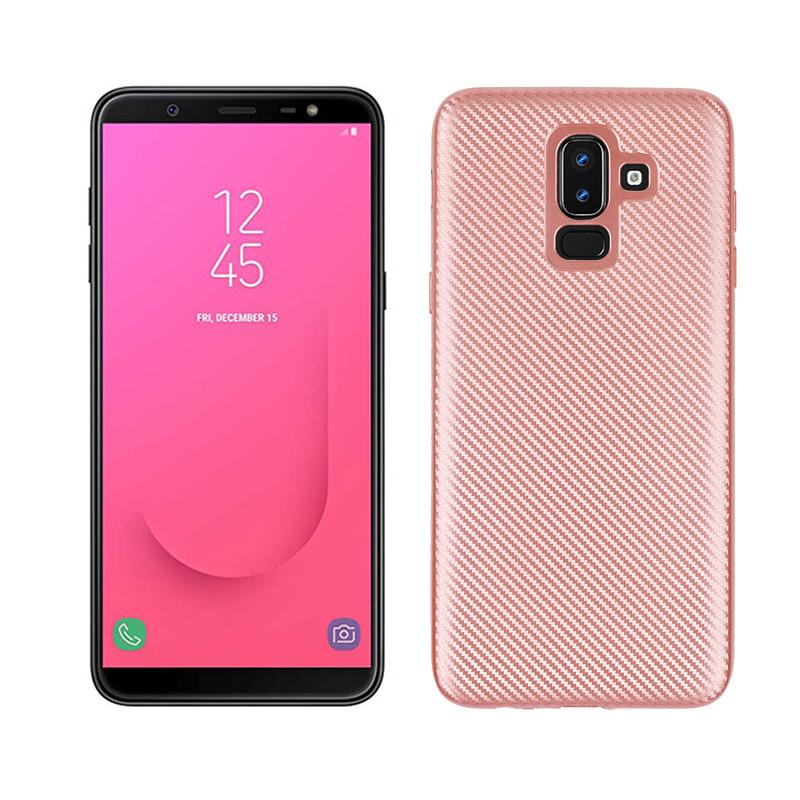 d3c9237060bd2 Fitted Funda For Samsung Galaxy J8 2018 Carbon Fiber Bumper Case SM-J810F SM-J810F/DS  SM-J810M/DS SM-J810M SM-J810Y/DS SM-J810Y SM-J810G/DS Soft Silicone ...