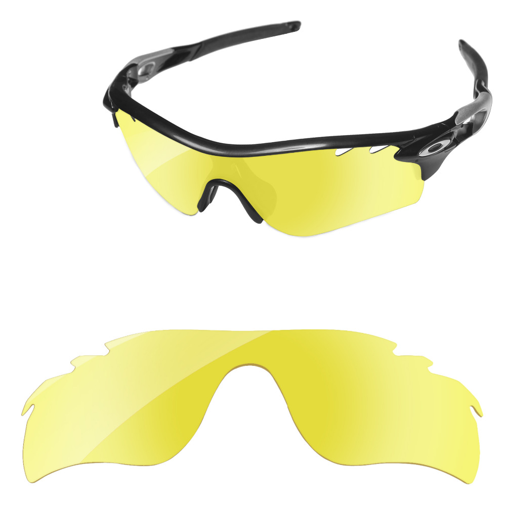 8e6990369c De cristal amarillo de reemplazo de lentes para RadarLock camino ventilado  gafas de sol marco 100% UVA y UVB protección