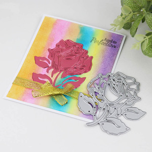 Image 3 - Dolce Vita Rose Flower Lace Border Metal Cutting Dies Christmas Leaf Poinsettia Heart Die Scrapbooking for Card Craft Template