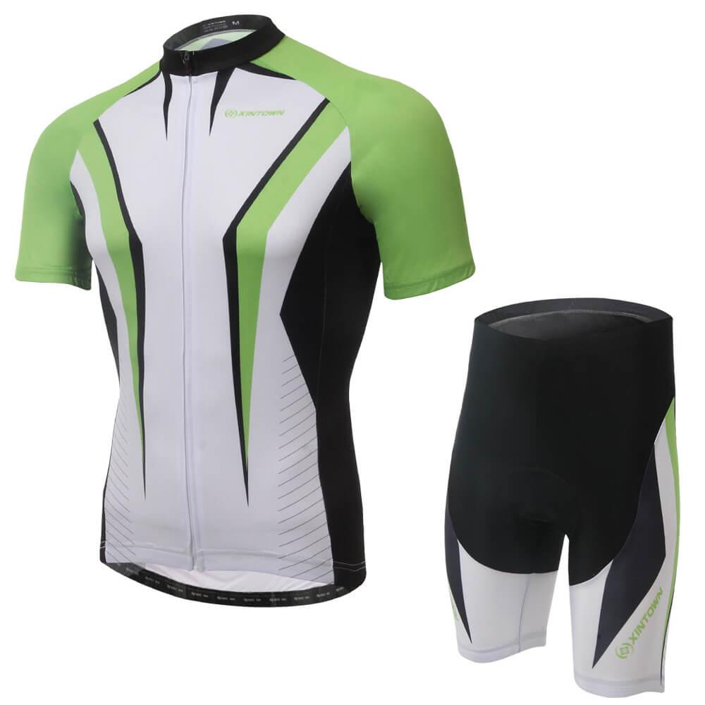 XINTOWN Cycling Absorb Sweat Jersey Short Set Bike Cycling Breathable Clothing Short Sleeve Men/Women Sportswear Summer Wear