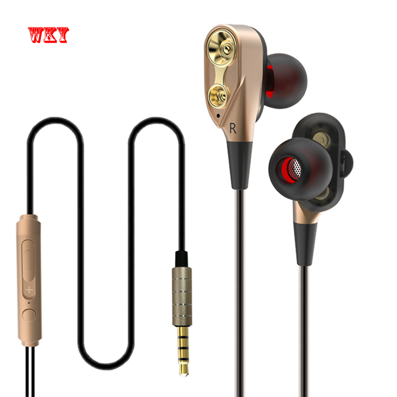 WKY Original Stereo earphone High Quality Super Bass Headset fone de ouvido Active Noise Cancelling HD Sound with Mic For xiaomi hot sale ttlife noise cancelling headphones fone de ouvido bluetooth 4 1 headset portable bass stereo gaming earphone for gamer