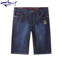 3 Models Fashion Brand Tace Shark Mens Jeans Shorts Masculino Summer Style Straight Shark Logo Casual