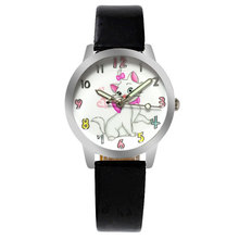 ot01 Cartoon Children Watch Cat  Watch Fashion Girl Kids Student Cute Leather Sports Analog Wrist Watches