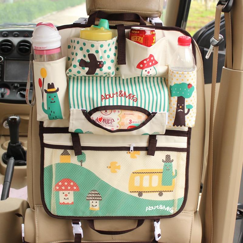 Asiento trasero de coche de dibujos animados bolsa colgante organizador de automóviles accesorios de Interior de estirar lindo bebé especialmente seco