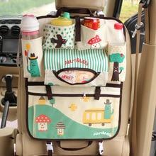 Мультфильм заднем сиденье автомобиля хранения Сумочка Организатор Автомобилей Салонные аксессуары средства ухода для автомобиля милый