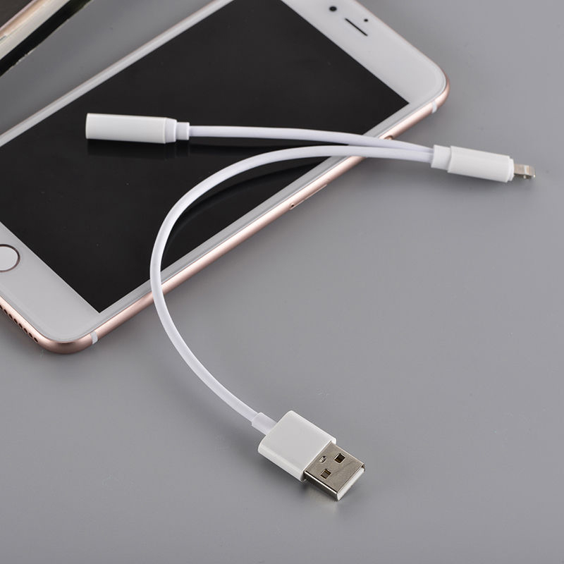 BluShell 2 In 1 Lightning To 3.5mm Headphone Jack & USB