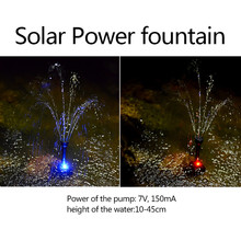 Fontanna solarna sztuczny wodospad staw/oczko wodne fontanna słoneczna Led pompa wodna ogród na zewnątrz Park Mini fuentes de agua decoracion
