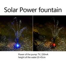 Solar Fountain Artificial Waterfall Pond Fountain Solar Led Water Pump Garden Outdoor Park Mini fuentes de agua decoracion