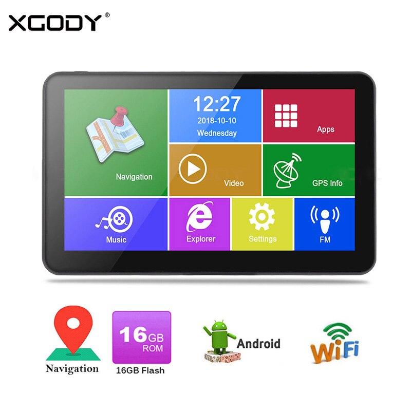XGODY Android Car GPS Navigation 7 Inch HD Truck Navigator 512MB 16GB WiFi font b Tablet