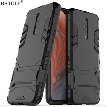 For Cover OPPO Reno Z Case Rubber Robot Armor Shell Hard PC Back Phone for Protective
