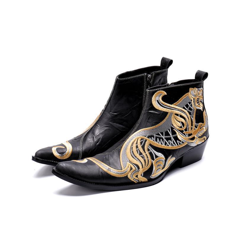 Inglaterra Chelsea Negro Los De Retro Tallado Modis Y Zapatos Hombres Invierno Brock Botas El Otoño Altos Cuero xwqX1gWU