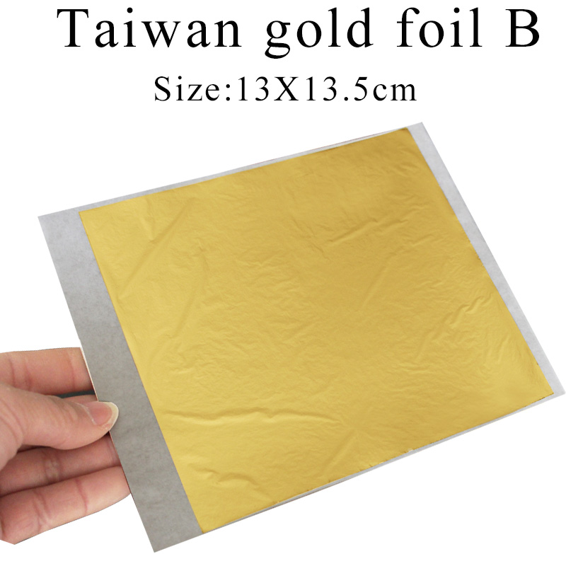 500PCS Taiwan B shiny Imitation gold leaf gilding color like 24k gold free shipping in Craft Paper from Home Garden