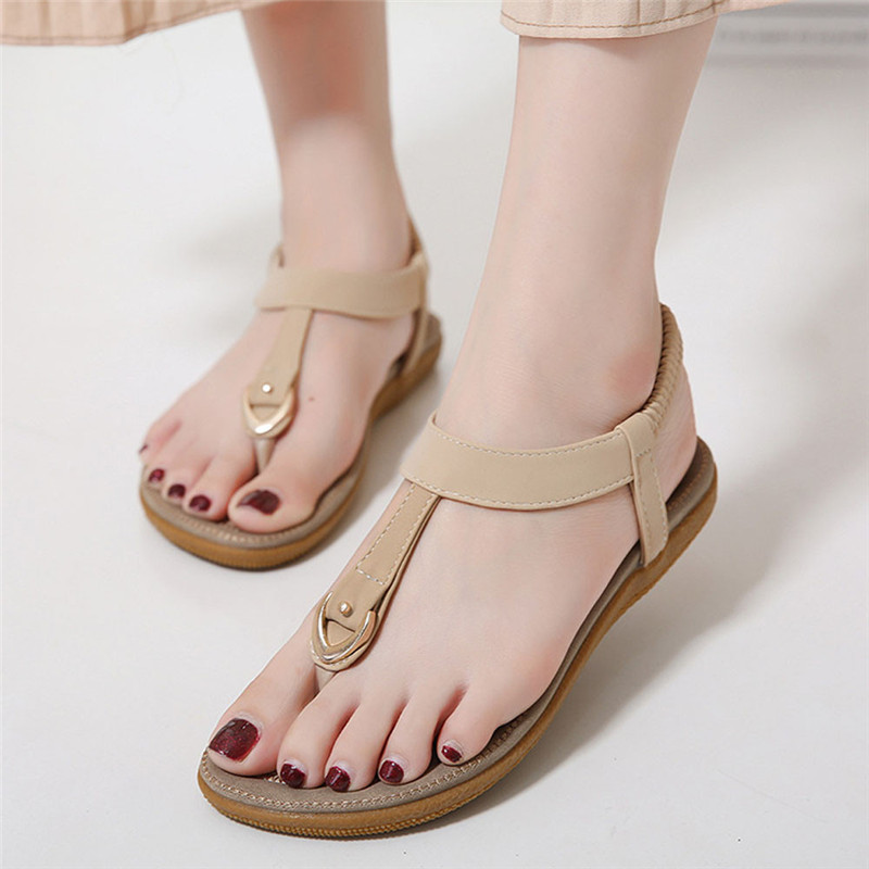 gladiator sandals Women Summer shoes Fashion Boho Style Casual Flat Sandal Beach Shoes chaussures femme ete 2017 sandalias mujer excellent design sandalias femininas tassels sandal summer shoes fashion design high heels gladiator womens sandals shoes