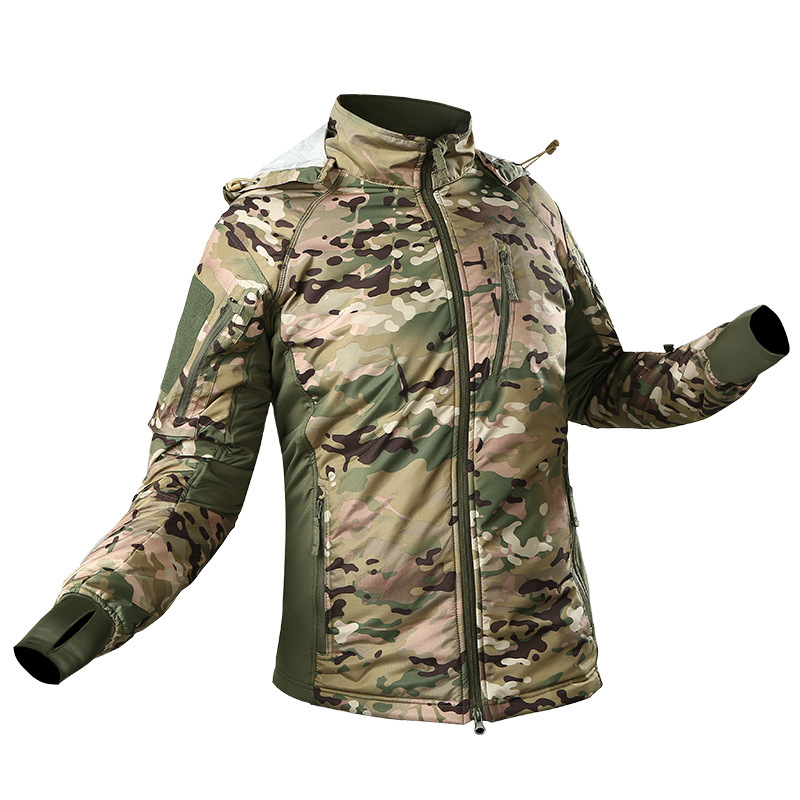 MEGE Men's Waterproof Military Tactical Jacket Men Warm Windbreaker Bomber Jacket Camouflage Hooded Coat US Army chaqueta hombre 80
