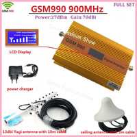 Full Set GSM Booster 900MHz Cell Phone Signal Booster Amplifier GSM Cellular Mobile Phone Signal Repeater Booster With Antenna