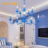 Star wish Postmodern creative blue pendant light Nordic living room dining room bedroom iron hunging lamp