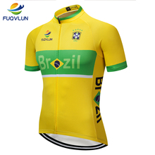1e85aade2 FUQVLUN 2019 Pro Brazil Cycling Jersey Summer Racing Bicycle Clothing Ropa  Ciclismo Mens MTB Bike Clothes
