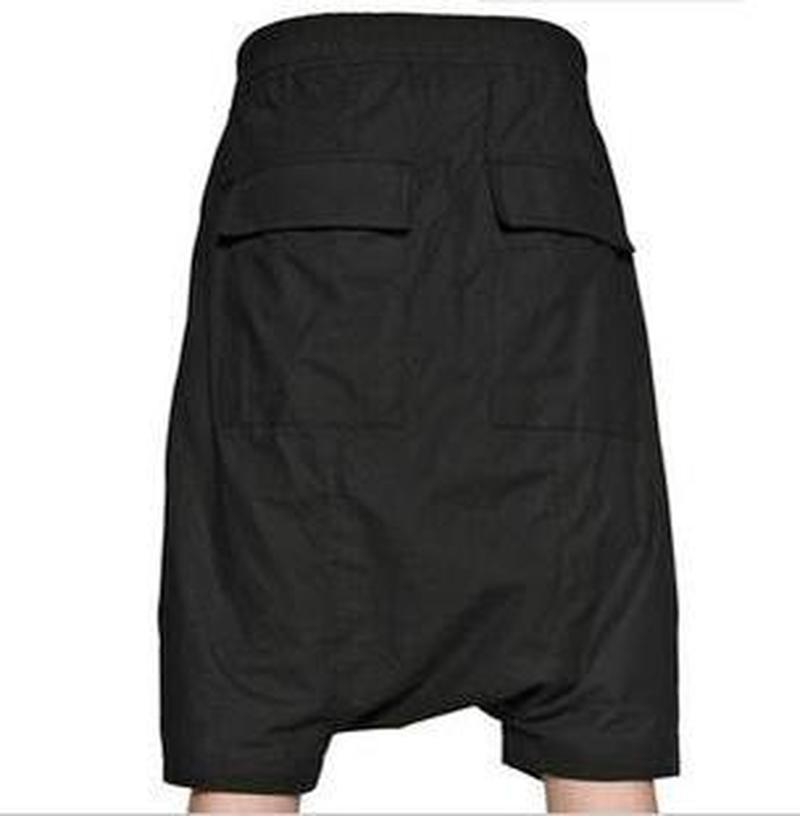Men's Pants Trousers Hanging Loose Streetwear Men Summer New Youth Mid Middle-Waist Low-Cross