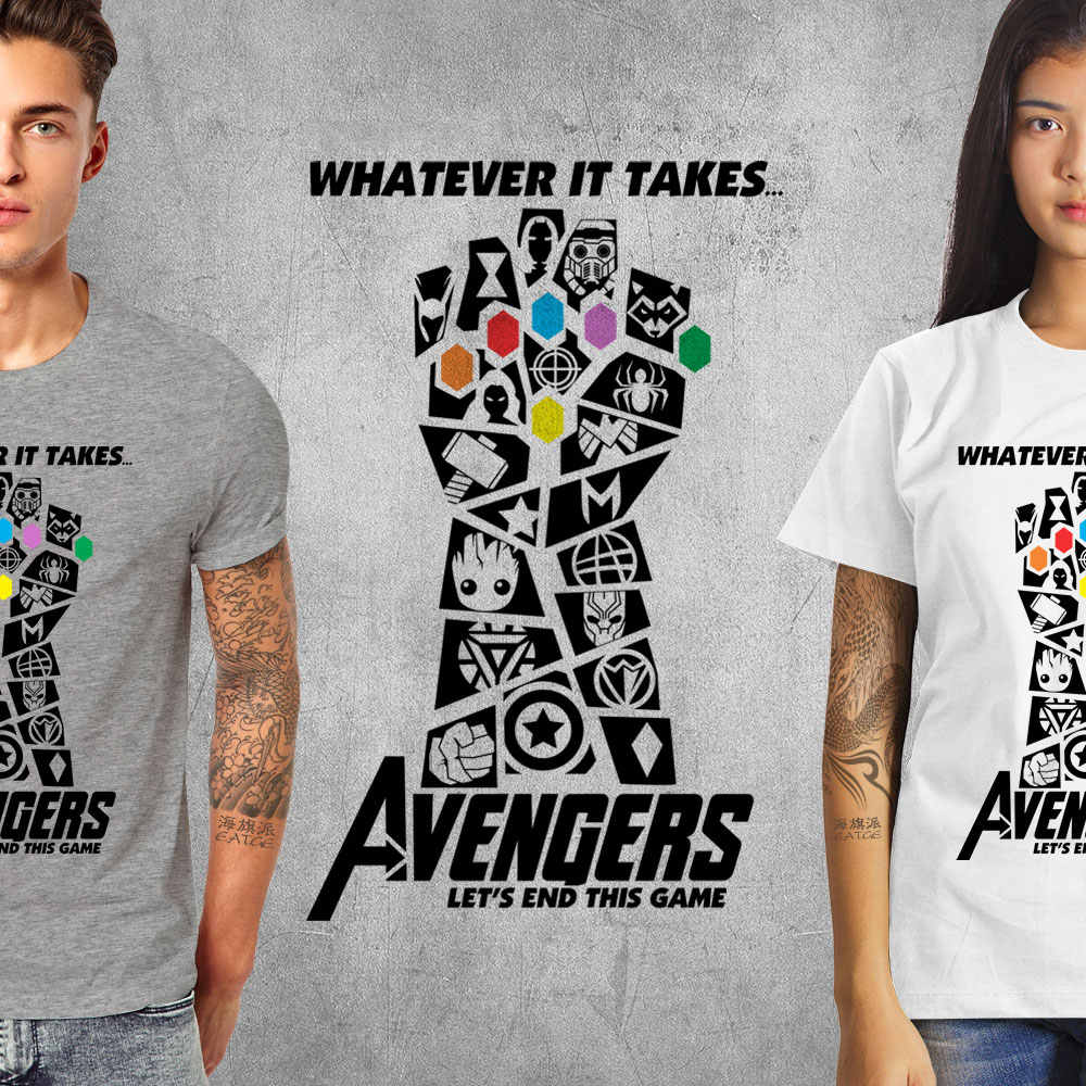 a4db5c73b0a8 ... Avengers 4 Endgame T Shirt Marvelous Infinity War End Game Thanos Tshirt  Novelty T-shirt ...