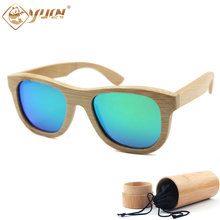 Hot sale bamboo frame polarized sunglasses handmade bamboo wooden sun glasses driving glasses custom logo available B014