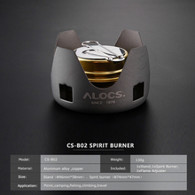 Compact Mini Spirit Burner Alcohol Stove with Stand for Outdoor Backpacking and Hiking