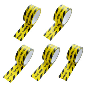 Image 5 - 1 Roll 48mm*25m Opp Warning Tape Danger Caution Barrier Remind Work Safety Adhesive Tapes DIY Sticker For Mall Store School