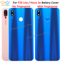 Cep telefonları ve Telekomünikasyon Ürünleri'ten Cep telefonu yuvası'de Huawei Nova 3e P20 Lite Arka cam Pil Kapağı Arka Kapı Konut Case Değiştirme Için Huawei P20 Lite Pil Kapağı