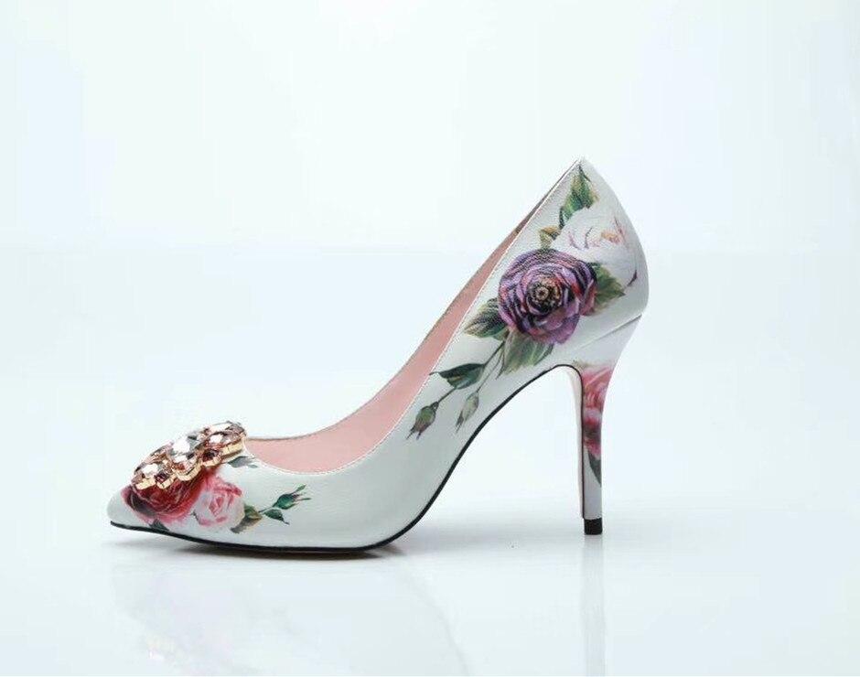 Zapatos 6cm Rosa Mujeres Punta Elegantes Diamantes De Imprimir Talones Rosado Fiesta 9cm Estrecha Altos Pumpns By569 Moda zaSqF5F