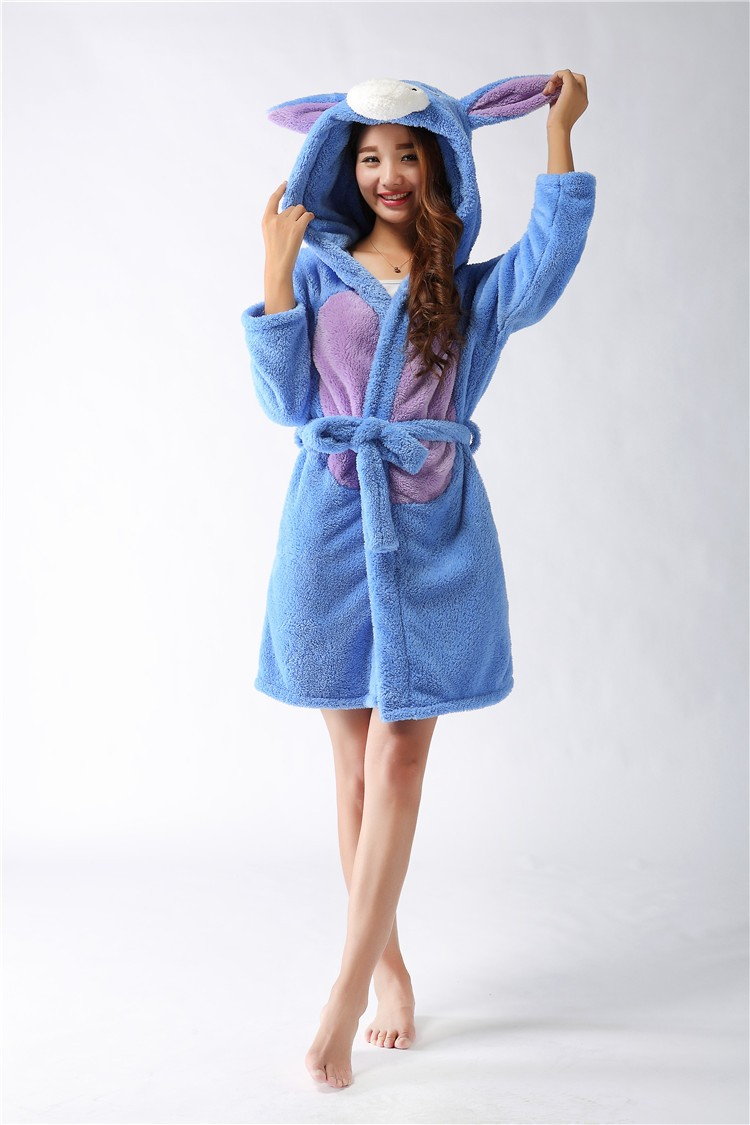 Detail Feedback Questions about New plush robe Adult Animal donkey Pajamas  long sleeve lovely Sleepwear bath robes dressing gowns for women bathrobe  on ... 2d4e20768