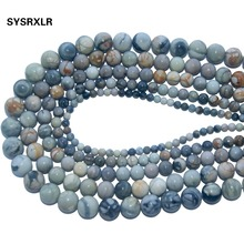 Natural Stone Picasso Round Loose Beads For Jewelry Making Charm Diy Bracelet Necklace Material 4/6/8/10/12 MM Strand 15''