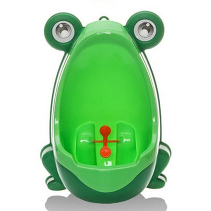 Baby Toilet Cartoon Frog Wall-Mounted Kids Boy Toilet Pee Training Frog Children's Pot Stand Vertical Urinal Baby Potty Toilet