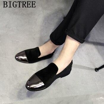 Zapatos elegantes clásicos para Hombre, mocasines masculinos De marca, De estilo Formal,...