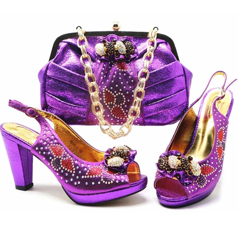 Imitación Bolso Las silver Zapatos Nueva wine Y Diamantes Mujeres gold Navy Nigerianas Decorado Blue Boda pueple Llegada En Fiesta green De Italiano Con Red 85qng5W7w