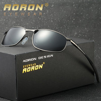 AORON Brand Designer Original Polarized Men Sunglasses Goggles Police Sun Glasses HD Driving Mirror Glasses Oculos