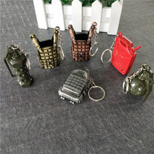 Jedi survival chicken game peripheral backpack armor key chain alloy weapon недорого