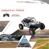 RC Car 10428 B2 1/10 2.4G 4WD Electric Rock Climbing Crawler RC Car Desert Truck Off Road Buggy Vehicle with LED Light RTR Model