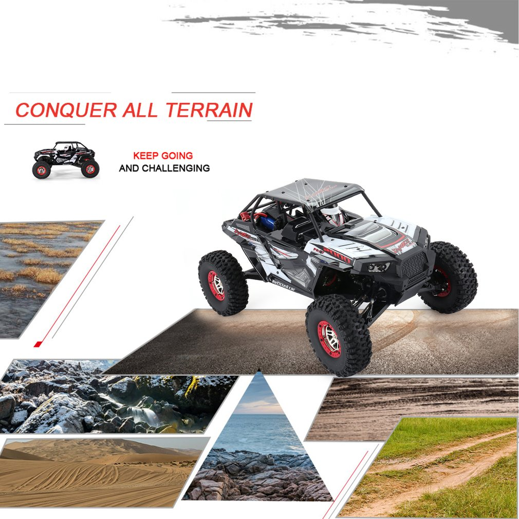 RC Car 10428-B2 1/10 2.4G 4WD Electric Rock Climbing Crawler RC Car Desert Truck Off-Road Buggy Vehicle with LED Light RTR Model gd багги 1 5 4x4 desert buggy xl 1 5th 4wd rtr