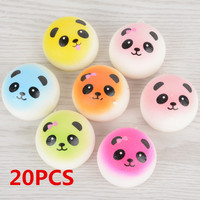 Mayitr 20PCS 4CM Jumbo Cute Chubby Squishy Colorful Panda Bread Phone Straps Charms Bag Soft Panda