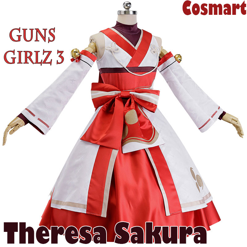 Game Honkai Impact 3 figure Theresa Sakura Fire Dance Kimono Uniform Halloween Cosplay costume for women New 2018