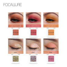 Focallure glitter Eye shadow  makeup Shimmer powder born to run Eyeshadow natural shade for eye make up palette