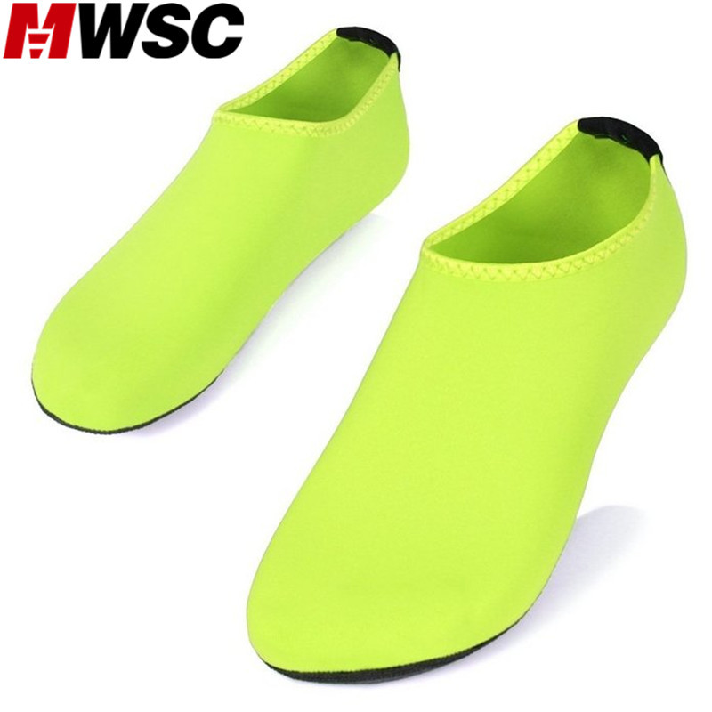 MWSC 2017 Summer New Chaussure Femme Women Water Shoes Aqua Slippers for Beach Slip On Waterpark
