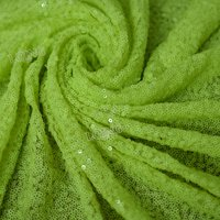 1 Cour Fastueux Néon Vert Brodé Sequin Tissu Matériel Mesh Lace Sequin Tissu Pour Vêtements Robe De Mariage Décor Table Tissu
