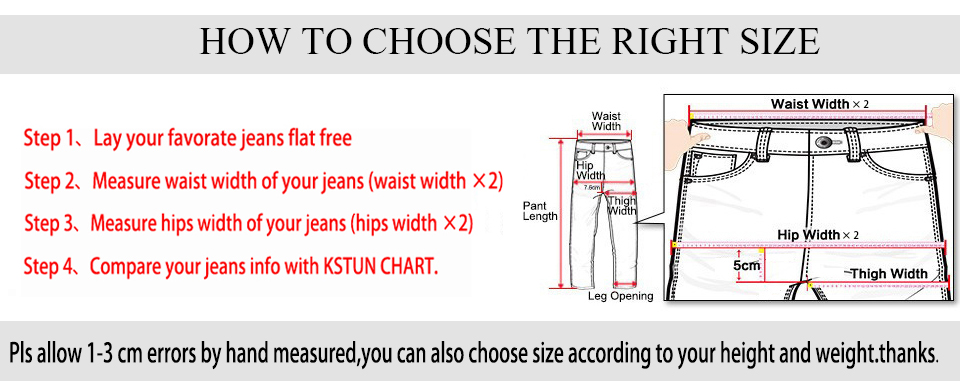 KSTUN Jeans Men Slim Straight Blue Spring and Summer Regular Fit Casual Pants Cotton Men's Clothing