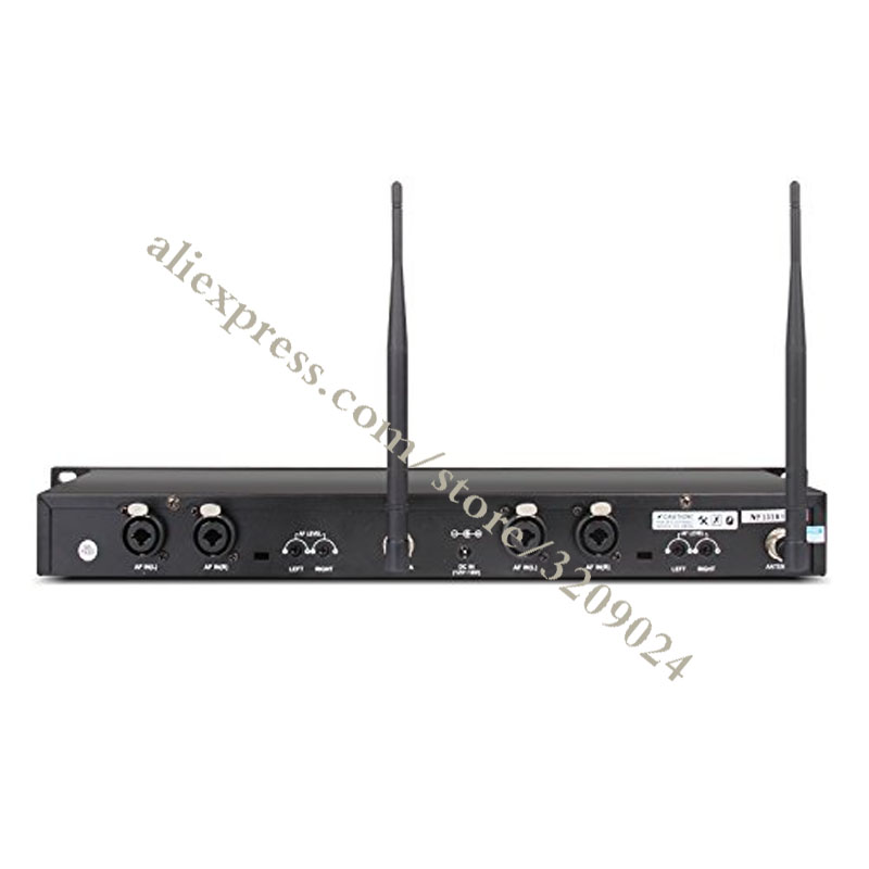 In Ear-Monitor-System 2 Kanal 4 Taschensender Überwachung mit In Kopfhörer Wireless für Bühne Aufnahme Studio Ausrüstung