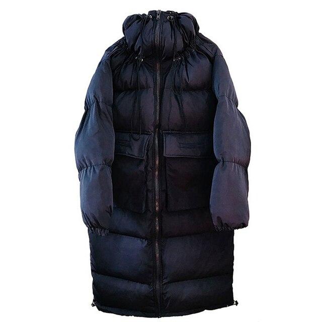 Down Cotton Women Winter Jacket BF Style Stand Collar Long Parka Women Winter Coat Plus Size Oversized Coats Female Jacket C5114 5