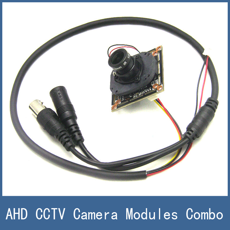 AHD CCTV Camera Modules Combo Kit , 1.0 MP CMOS Main Board + MTV IR Cut + 3 Megapixel 2.8mm Lens + Simple Cable FreeShipping